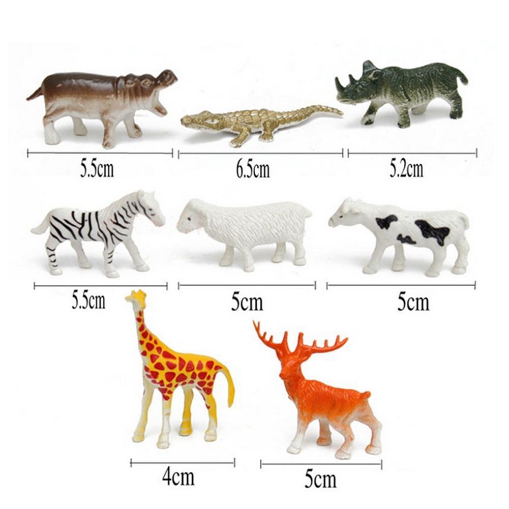 model-building 68PCS Plastic Farm Yard Wild Animals Fence Tree Model Kids Toys Figures Play New HOB1186300 2