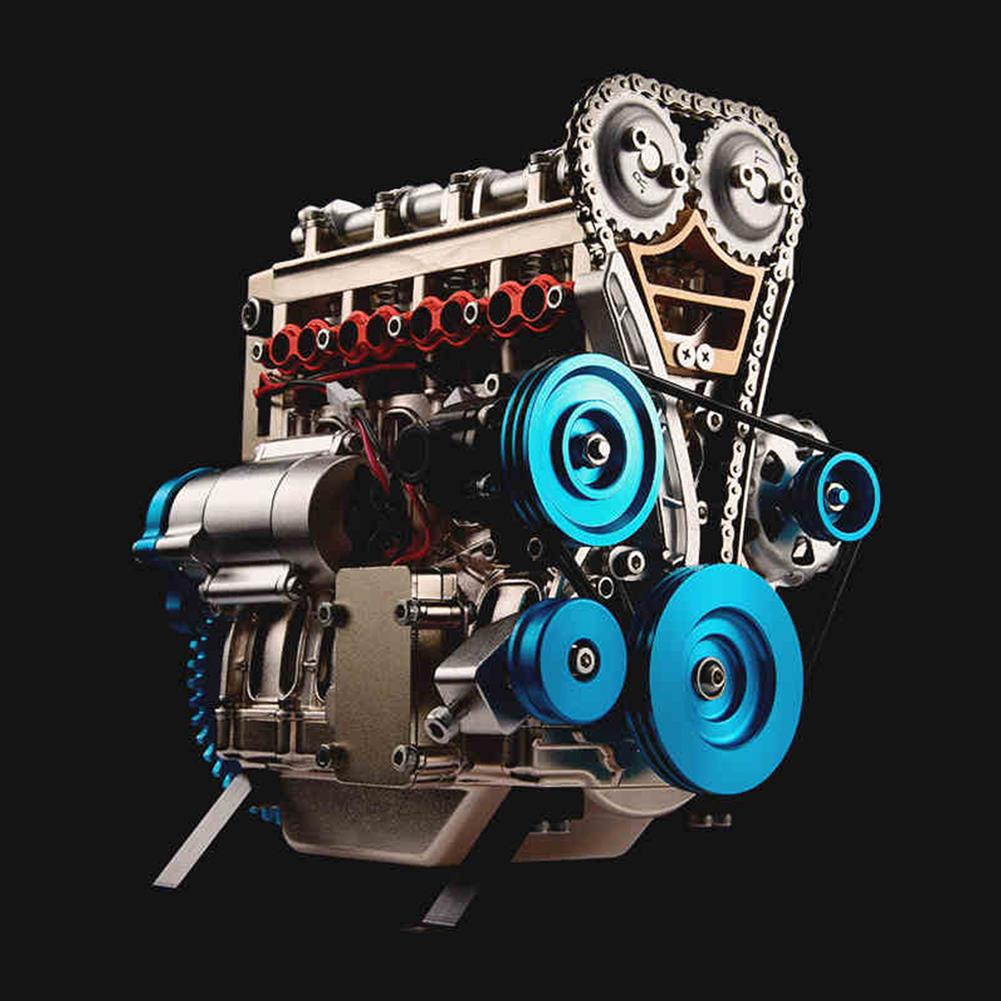 science-discovery-toys Teching V4 DM13 4-Cylinder Stirling Engine Full Aluminum Alloy Model Collection HOB1186819