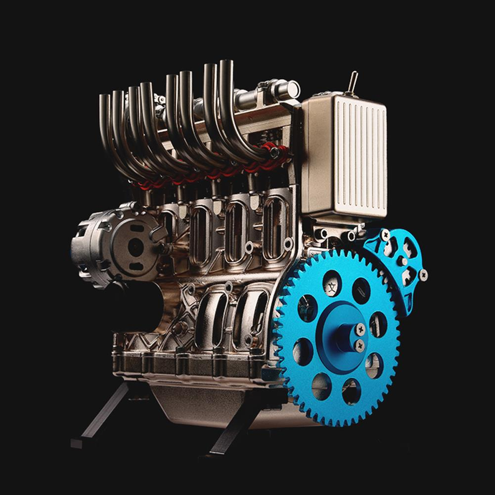 science-discovery-toys Teching V4 DM13 4-Cylinder Stirling Engine Full Aluminum Alloy Model Collection HOB1186819 1