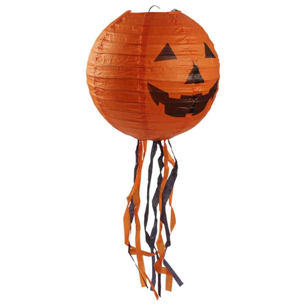 decoration 10 Pcs Halloween Pumpkin Paper Lantern 44cm Outdoor Props Party Supplies Decoration HOB1188417