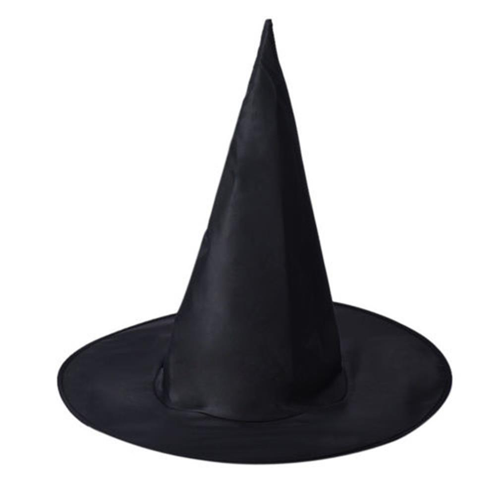mask-costumes 3Pcs Halloween Witch Black Pointy Hat Adult Kids Cosplay 37 x38cm HOB1190865