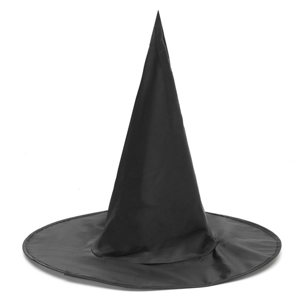 mask-costumes 3Pcs Halloween Witch Black Pointy Hat Adult Kids Cosplay 37 x38cm HOB1190865 1