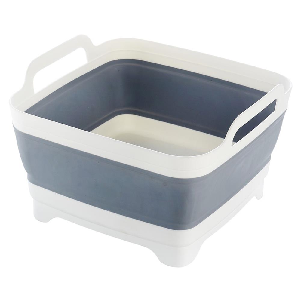 magnetic-toys Space Saving Collapsible Sink Grey Silicone for Home Caravan Boat RV Camping HOB1192828