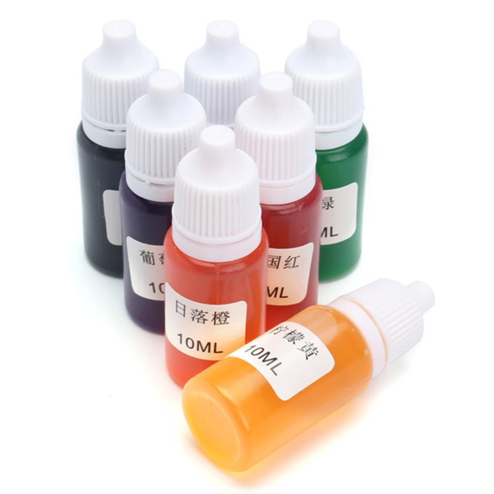 pottery-clay-tools 7 Colors Pigment DIY Snow Mud Styrofoam Slime Kit Educational Toys Gift DIY 10ml HOB1194638 1