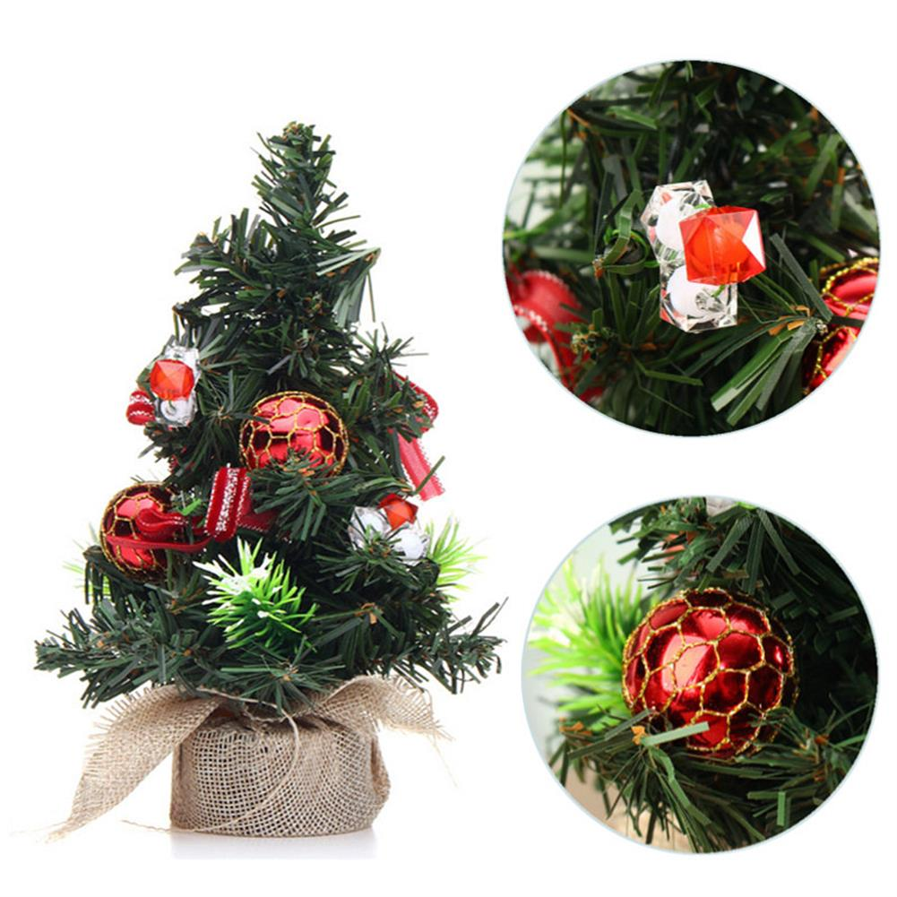 decoration Christmas Home Party Decorations Supplies Mini Christmas Tree with Ornaments Toys HOB1195847