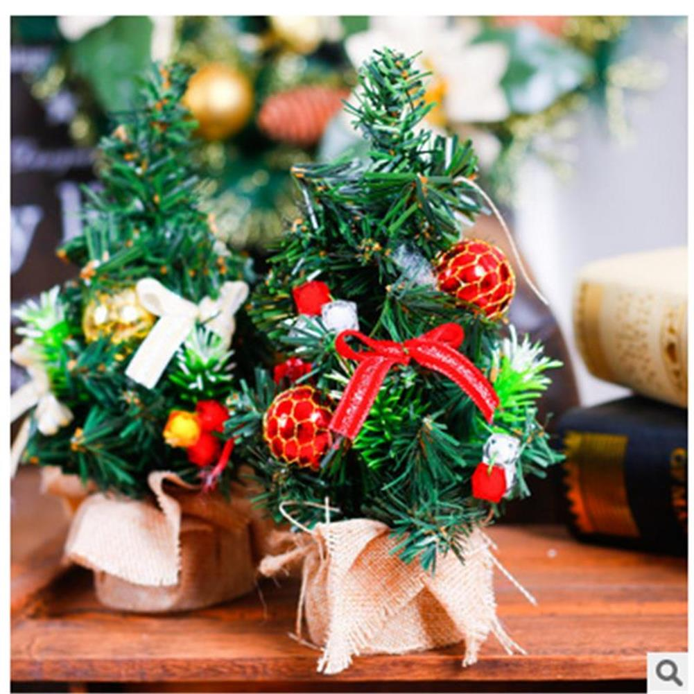 decoration Christmas Home Party Decorations Supplies Mini Christmas Tree with Ornaments Toys HOB1195847 1