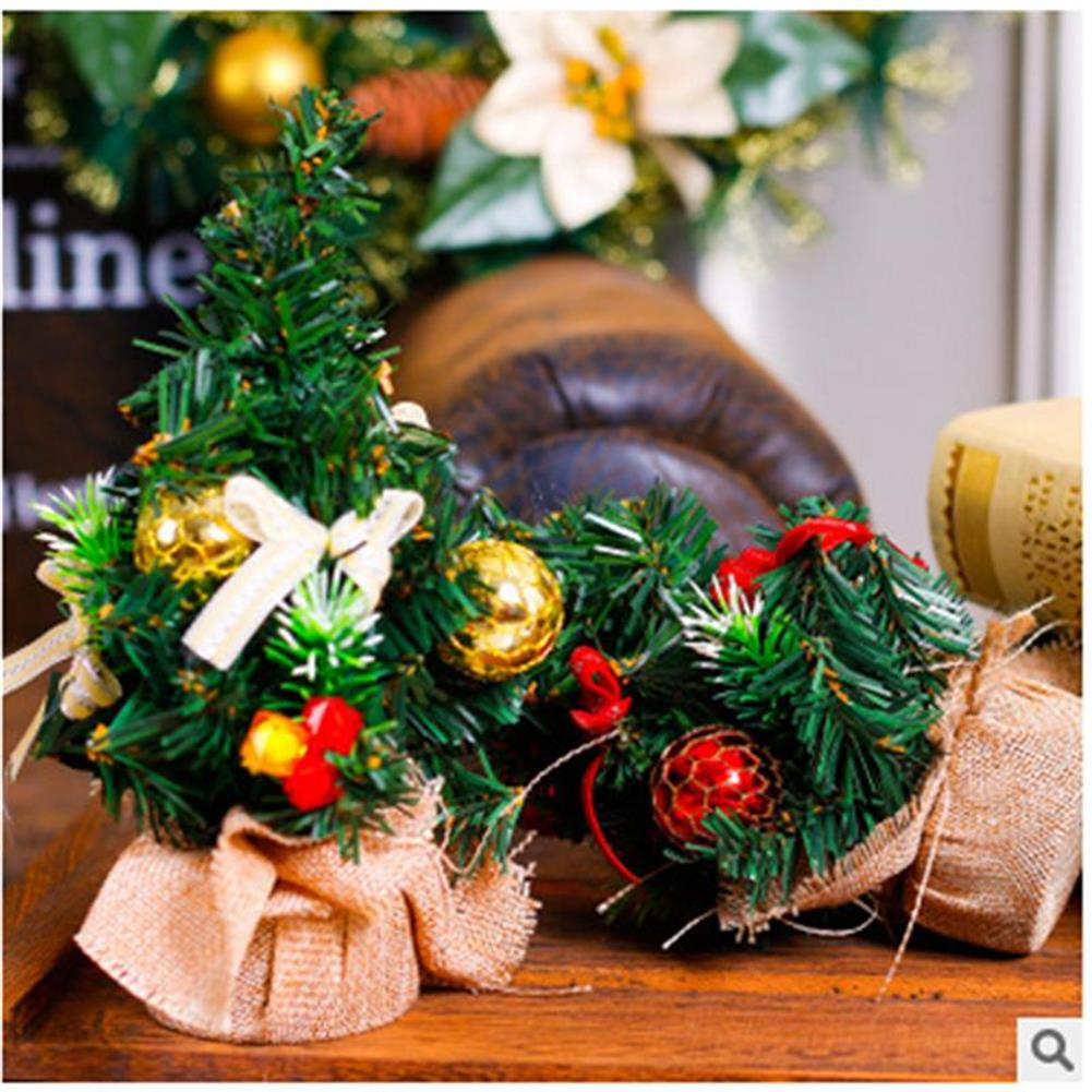 decoration Christmas Home Party Decorations Supplies Mini Christmas Tree with Ornaments Toys HOB1195847 2