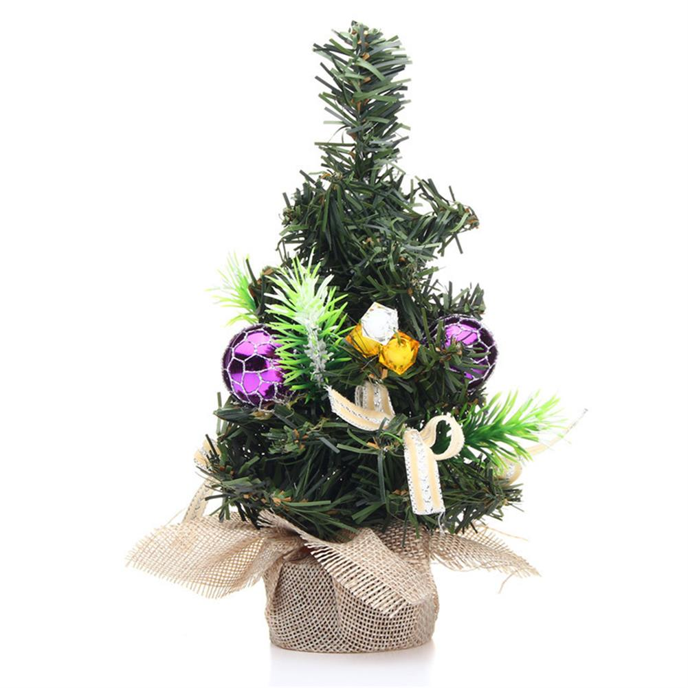 decoration Christmas Home Party Decorations Supplies Mini Christmas Tree with Ornaments Toys HOB1195847 3