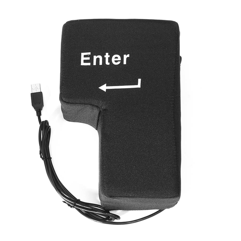 novelties New Large USB Enter Key Button Home office Desktop Nap Cushion Travel Pillow Reduce Stress Toys HOB1196118 1