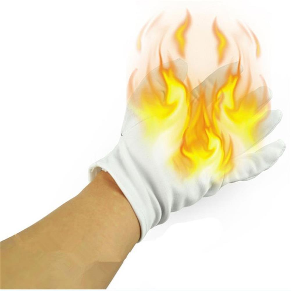 gags-practical-jokes 4Pcs Magic Props Palm Fire Gloves Trick Funny Toys with Random Free Gift HOB1199108