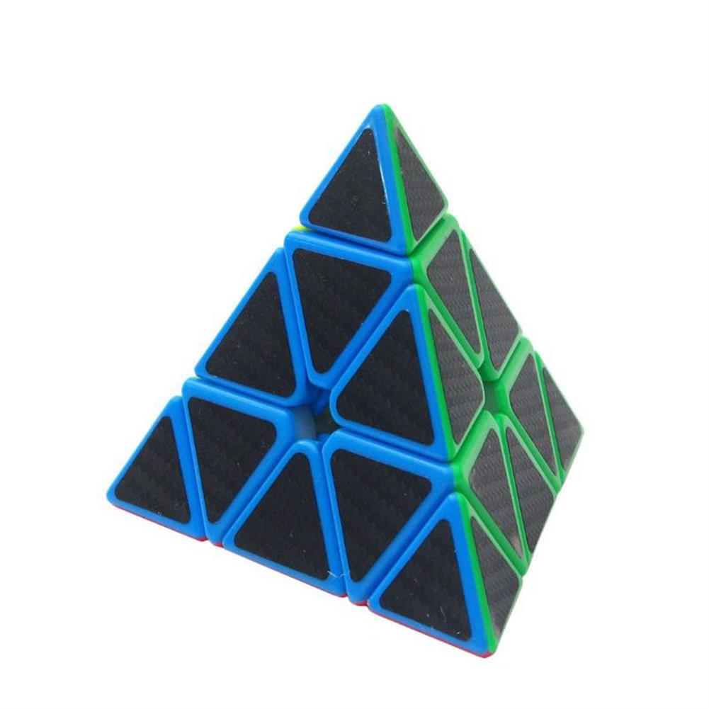 stress-relievers 5Pcs Per Box Carbon Fibre Magic Cube Pyraminx Dodecahedron Axis Cube 2x2 And 3x3 Cube Speed Puzzle HOB1201688 1