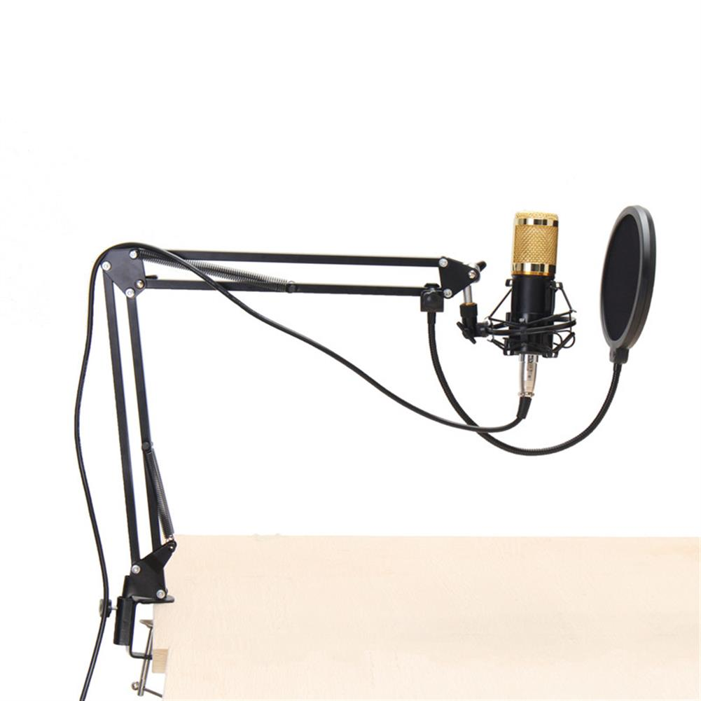 microphones-karaoke-equipment BM800 Professional Condenser Microphone Sound Audio Studio Recording Microphone System Kit Brocasting Adjustable Mic Suspension Scissor Arm Filter HOB1202404
