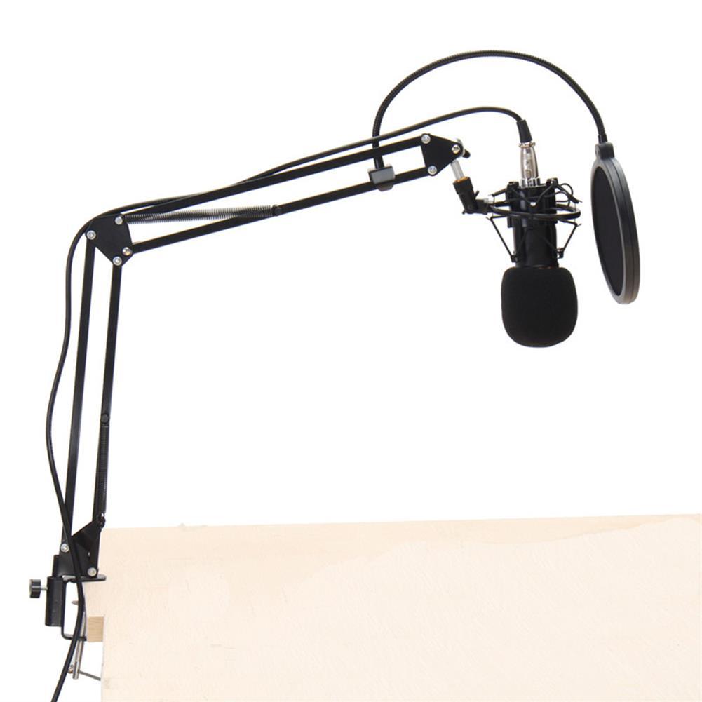 microphones-karaoke-equipment BM800 Professional Condenser Microphone Sound Audio Studio Recording Microphone System Kit Brocasting Adjustable Mic Suspension Scissor Arm Filter HOB1202404 1