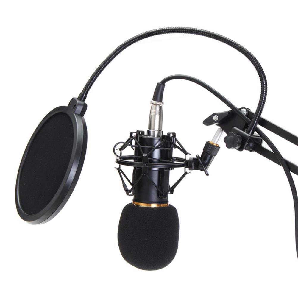 microphones-karaoke-equipment BM800 Professional Condenser Microphone Sound Audio Studio Recording Microphone System Kit Brocasting Adjustable Mic Suspension Scissor Arm Filter HOB1202404 2