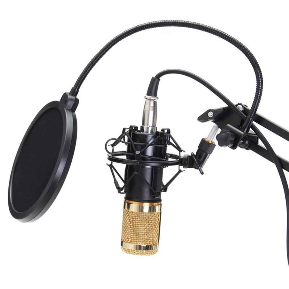 microphones-karaoke-equipment BM800 Professional Condenser Microphone Sound Audio Studio Recording Microphone System Kit Brocasting Adjustable Mic Suspension Scissor Arm Filter HOB1202404 3