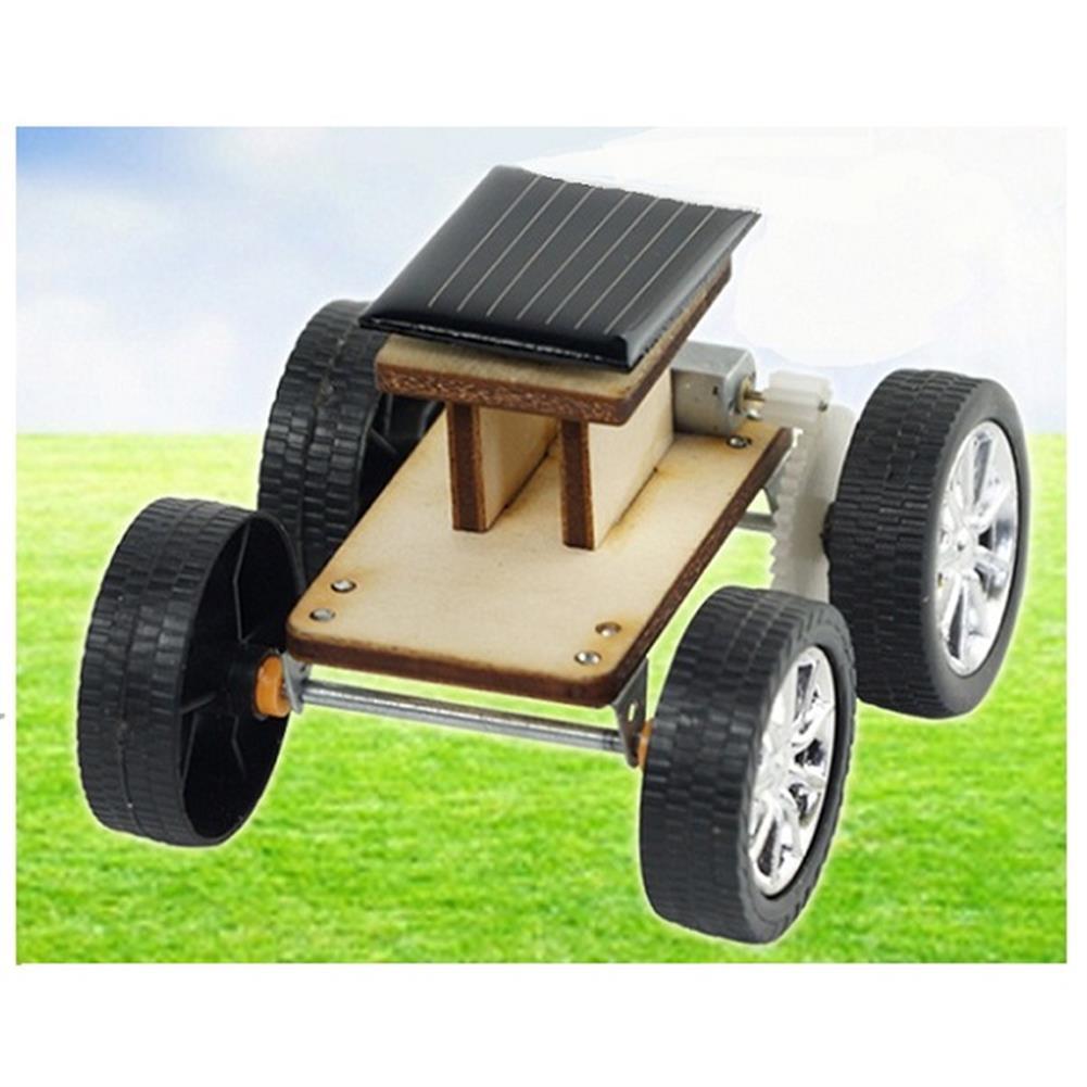 solar-powered-toys DIY Solar Wooden Car Toy Educational Assembly Model for Children HOB1203847
