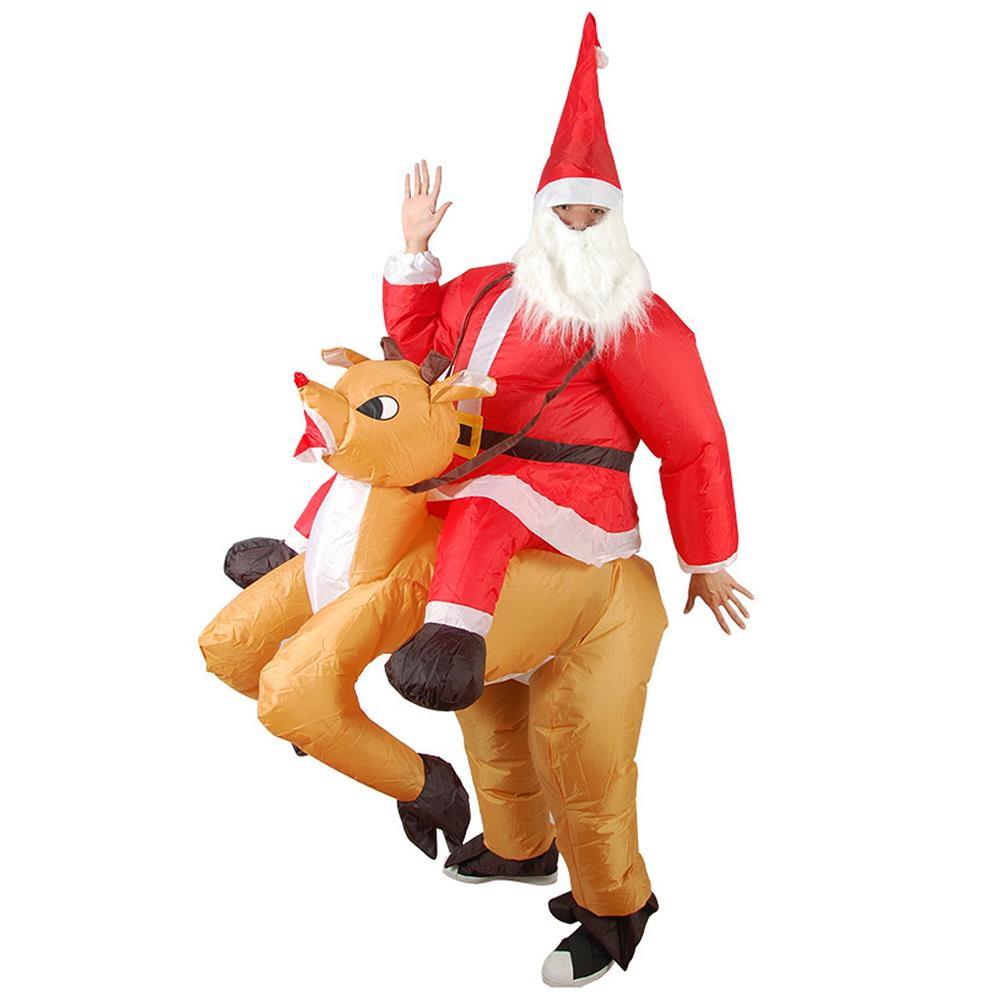 inflatable-toys Christmas Party Home Decoration inflatable Ride Deer Santa Claus Costume Toys Props for Kids Gift HOB1206588