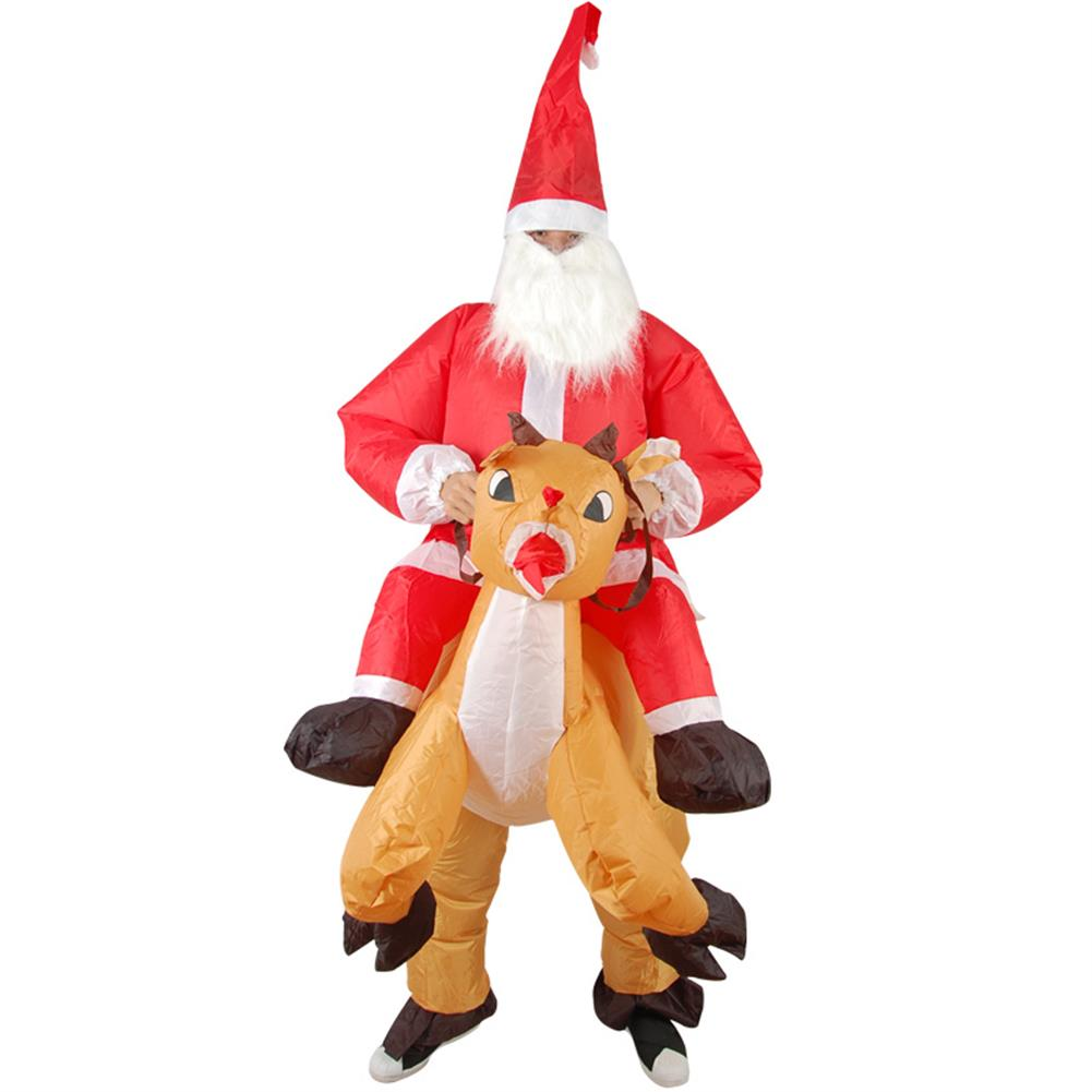 inflatable-toys Christmas Party Home Decoration inflatable Ride Deer Santa Claus Costume Toys Props for Kids Gift HOB1206588 1