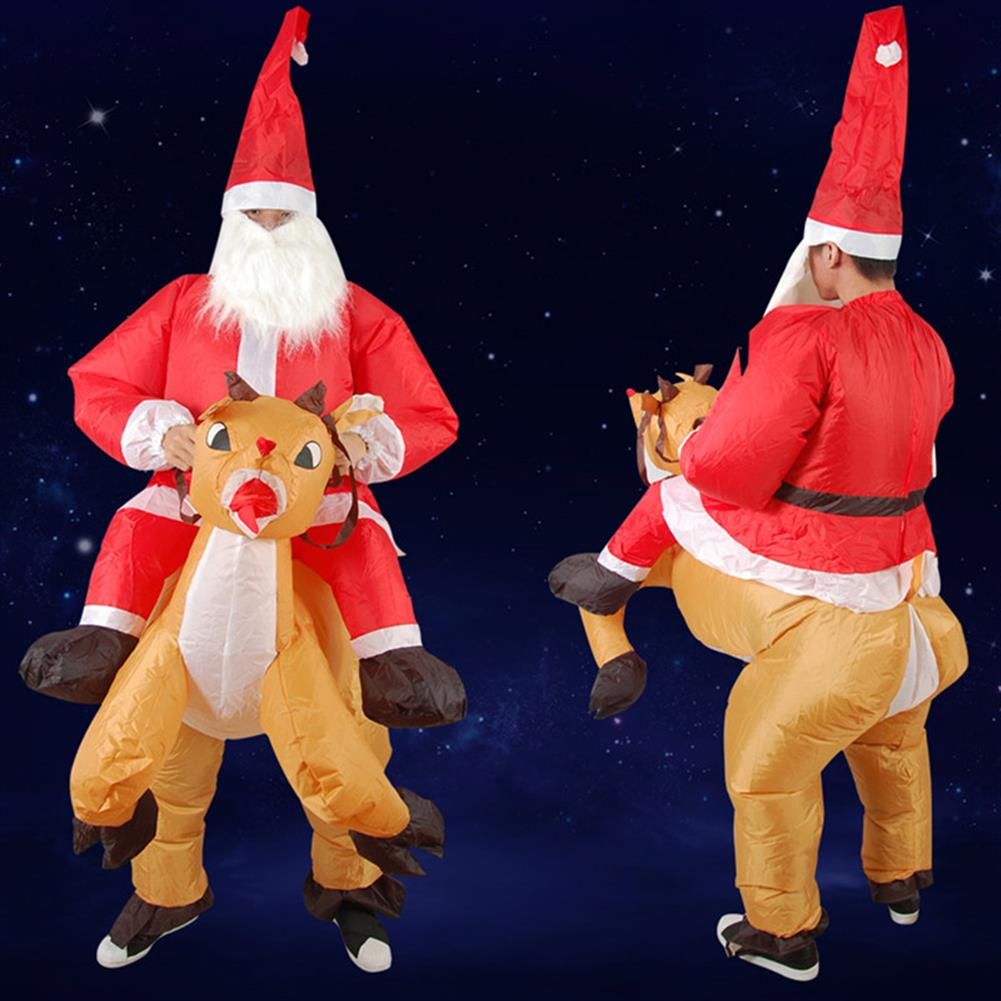 inflatable-toys Christmas Party Home Decoration inflatable Ride Deer Santa Claus Costume Toys Props for Kids Gift HOB1206588 2