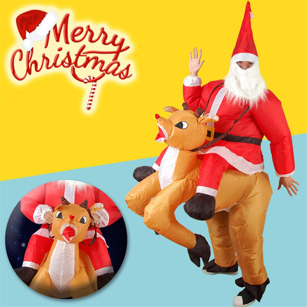 inflatable-toys Christmas Party Home Decoration inflatable Ride Deer Santa Claus Costume Toys Props for Kids Gift HOB1206588 3