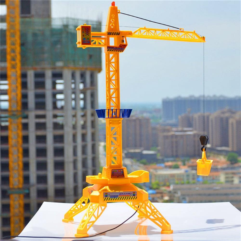 puzzle-game-toys 1/64 Remote Control Crane Hobby Kid Lift Construction Gift Toy with Accessories HOB1210375 1
