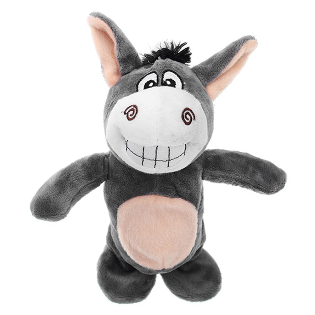 stuffed-plush-toys 20cm Talking Donkey Sound Record Stuffed Animal Plush Cow Walking Electronic Moving Doll HOB1210428 1