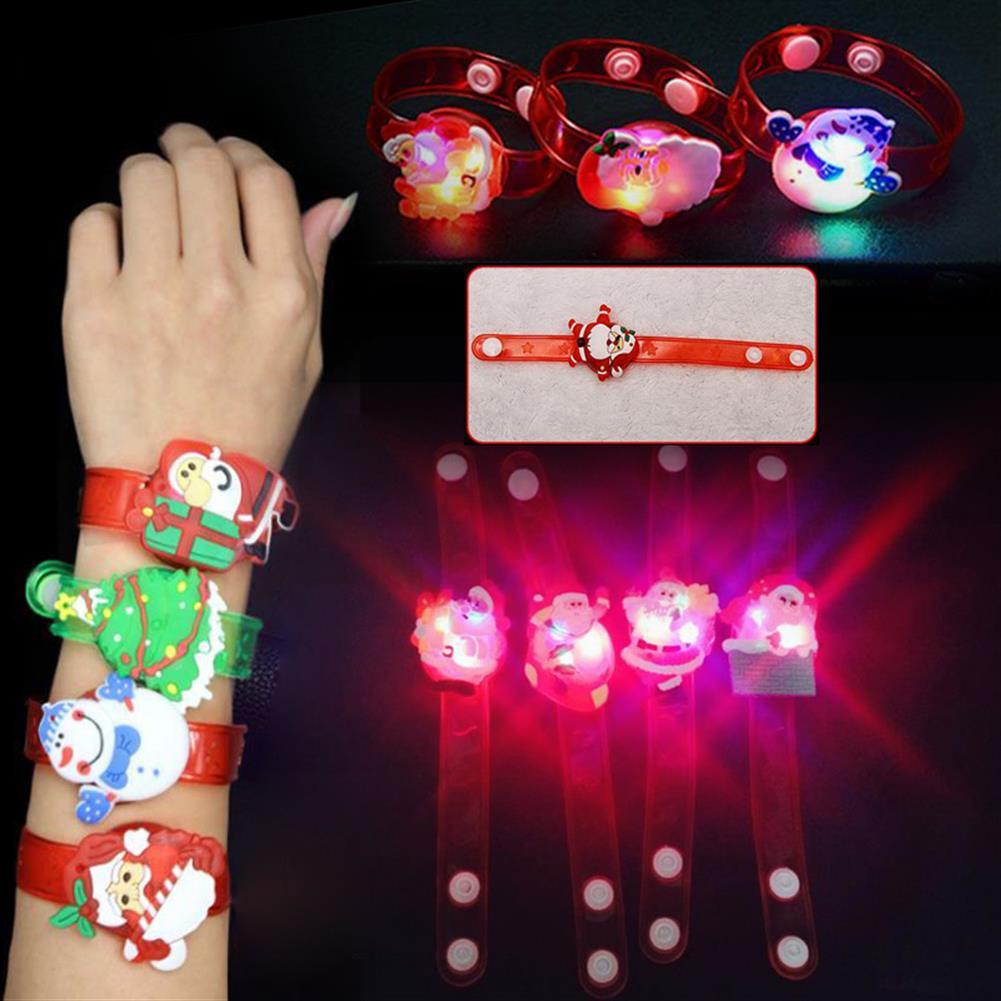 decoration Christmas Gift Luminous Wrist Band Cartoon LED Flash Bracelet for Kids Presents Decoration Toys HOB1210806 2