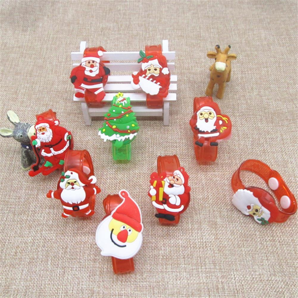 decoration Christmas Gift Luminous Wrist Band Cartoon LED Flash Bracelet for Kids Presents Decoration Toys HOB1210806 3