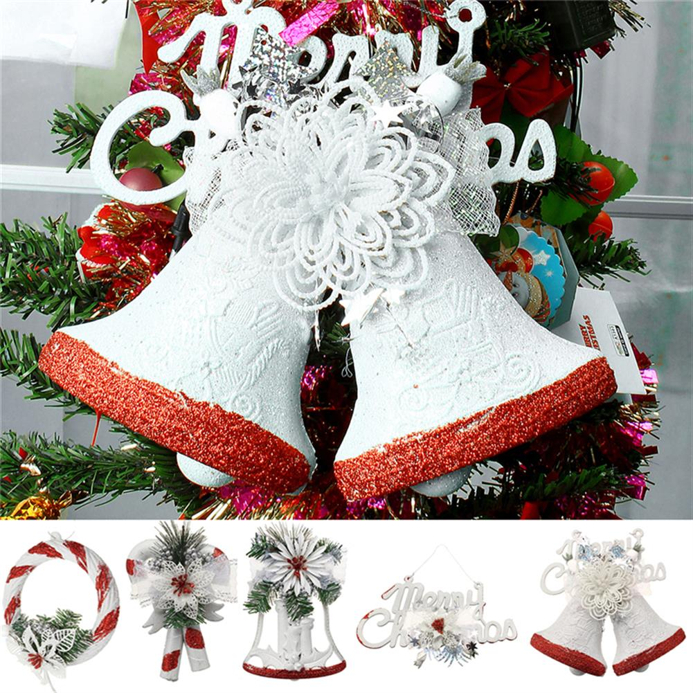 decoration Christmas Party Home Decoration White Hand Painted Tree Ornament Pendant Door Hanging Kids Gift HOB1215365
