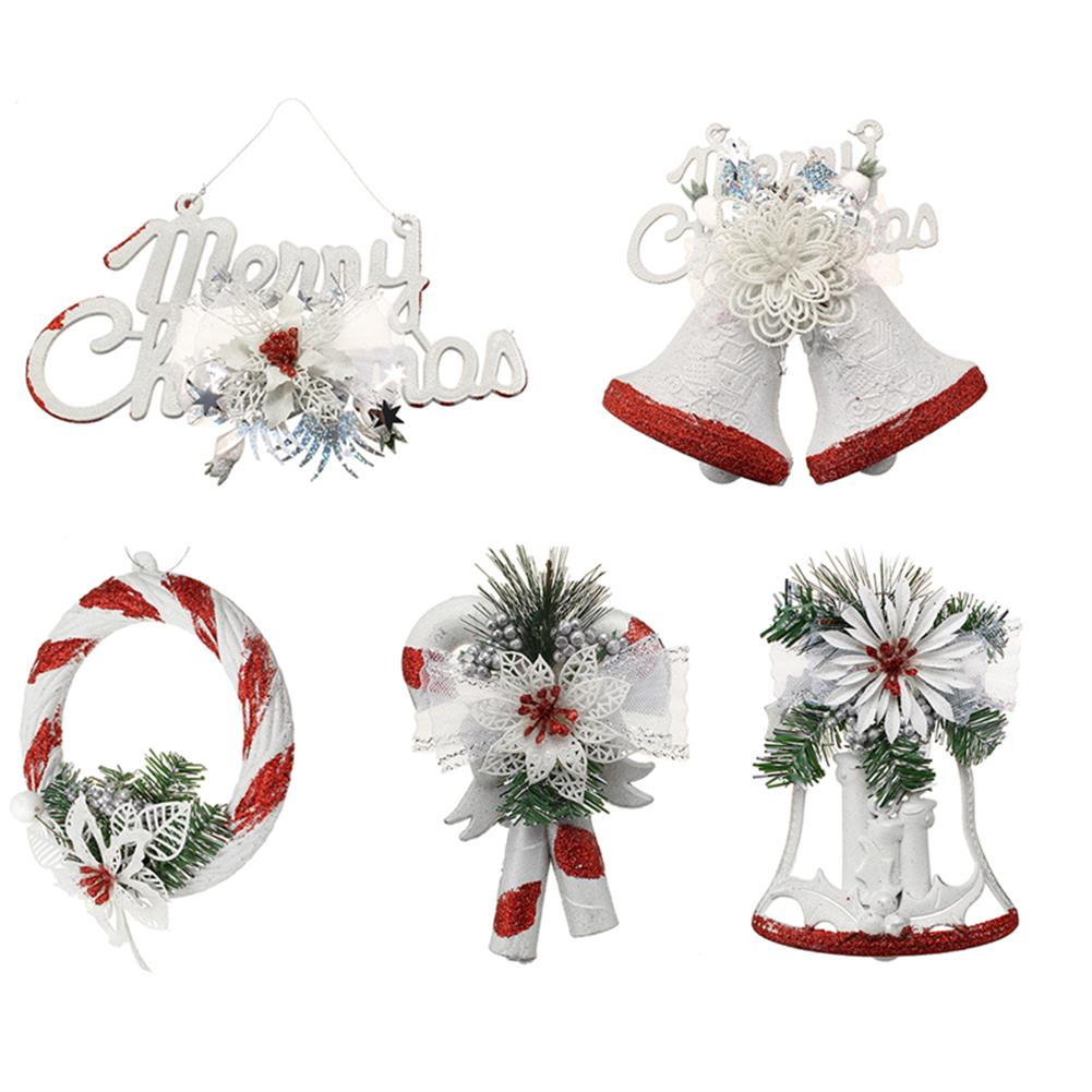 decoration Christmas Party Home Decoration White Hand Painted Tree Ornament Pendant Door Hanging Kids Gift HOB1215365 1