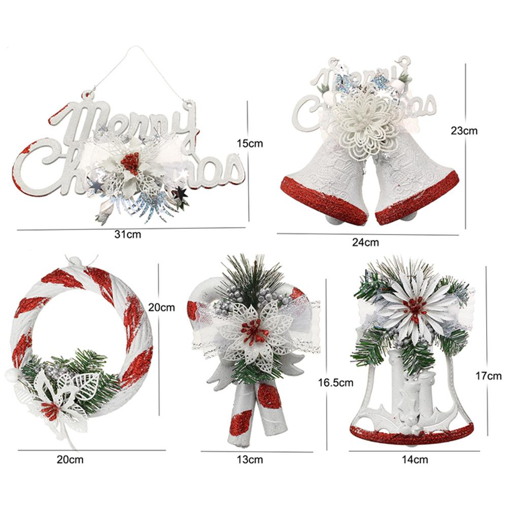 decoration Christmas Party Home Decoration White Hand Painted Tree Ornament Pendant Door Hanging Kids Gift HOB1215365 3