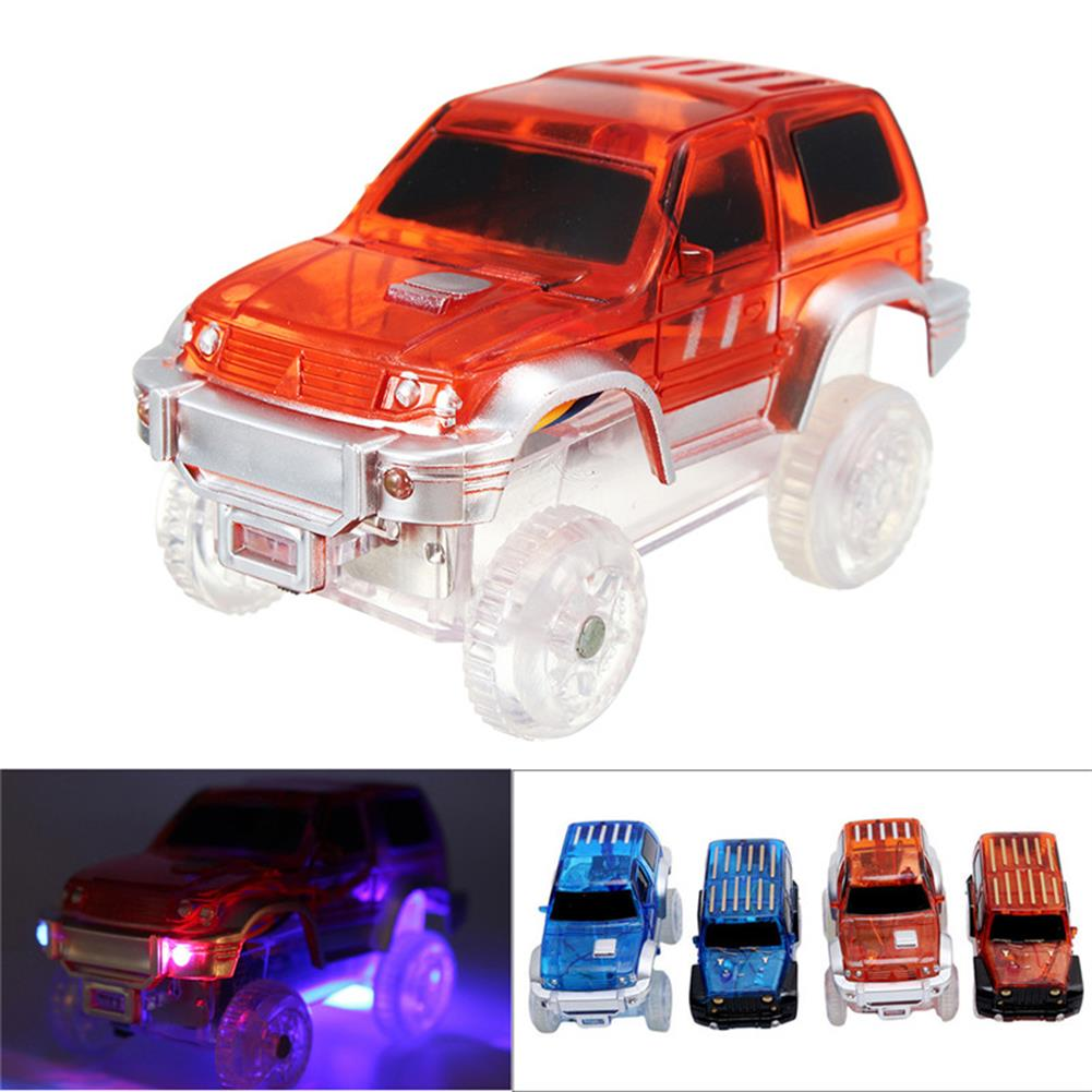blocks-track-toys Christmas Racing LED Electric Car Glowing Toys for Magical Glow in the Dark Track for Kids Gift HOB1217178