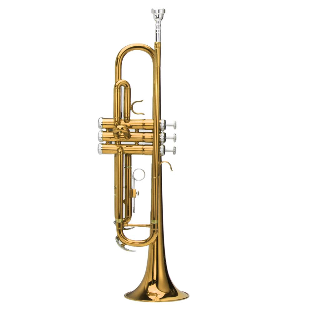 trumpet Bb Beginner Trumpet Brass Band Gold Plated Care Kit Case in Gold Silver Red Blue Black HOB1218517 1