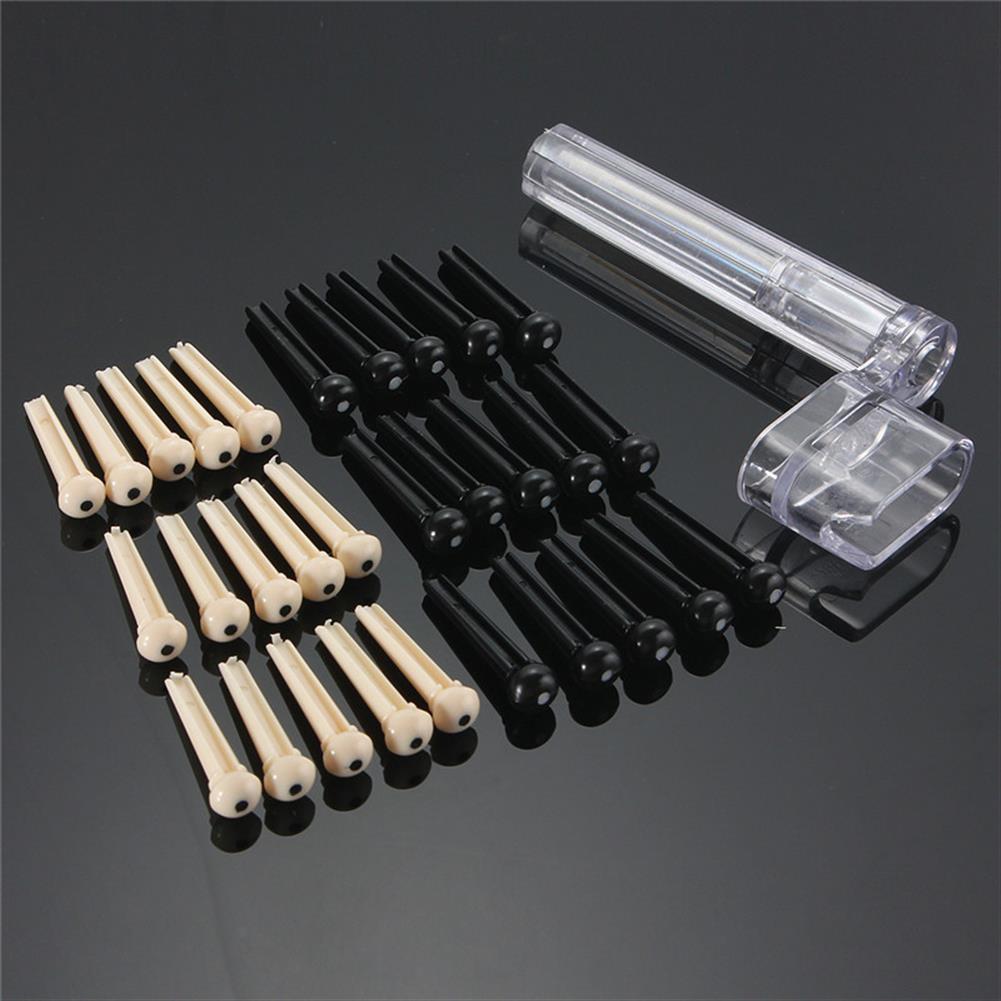 guitar-accessories 100pcs Guitar String Bridge Pins Cones Repair Kit Winder with Box HOB1219600 1
