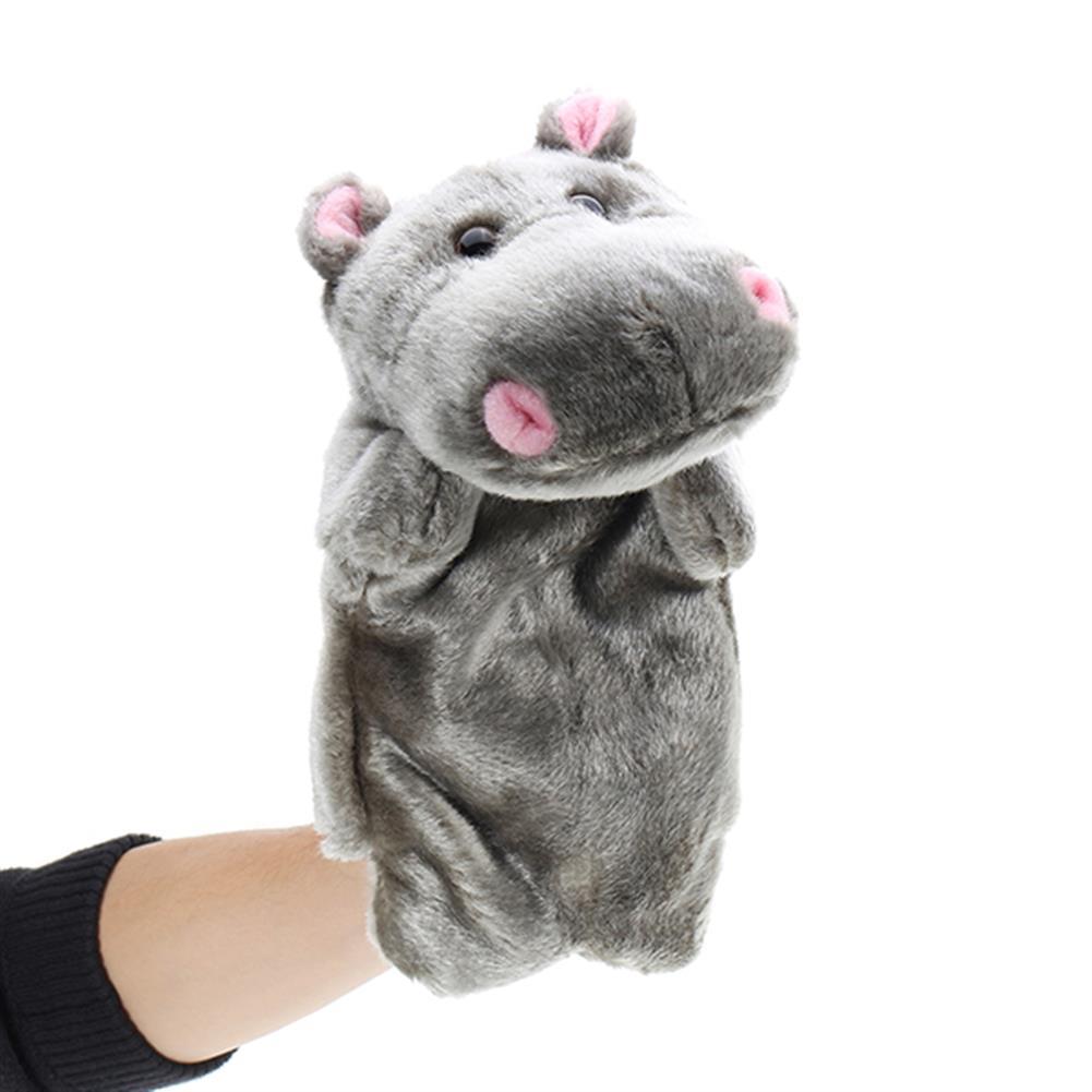 stuffed-plush-toys 27cm Baby Plush Toys Cute Cartoon Hippo Hand Puppet Baby Kids Doll Plush Toy Hand Puppets HOB1220434