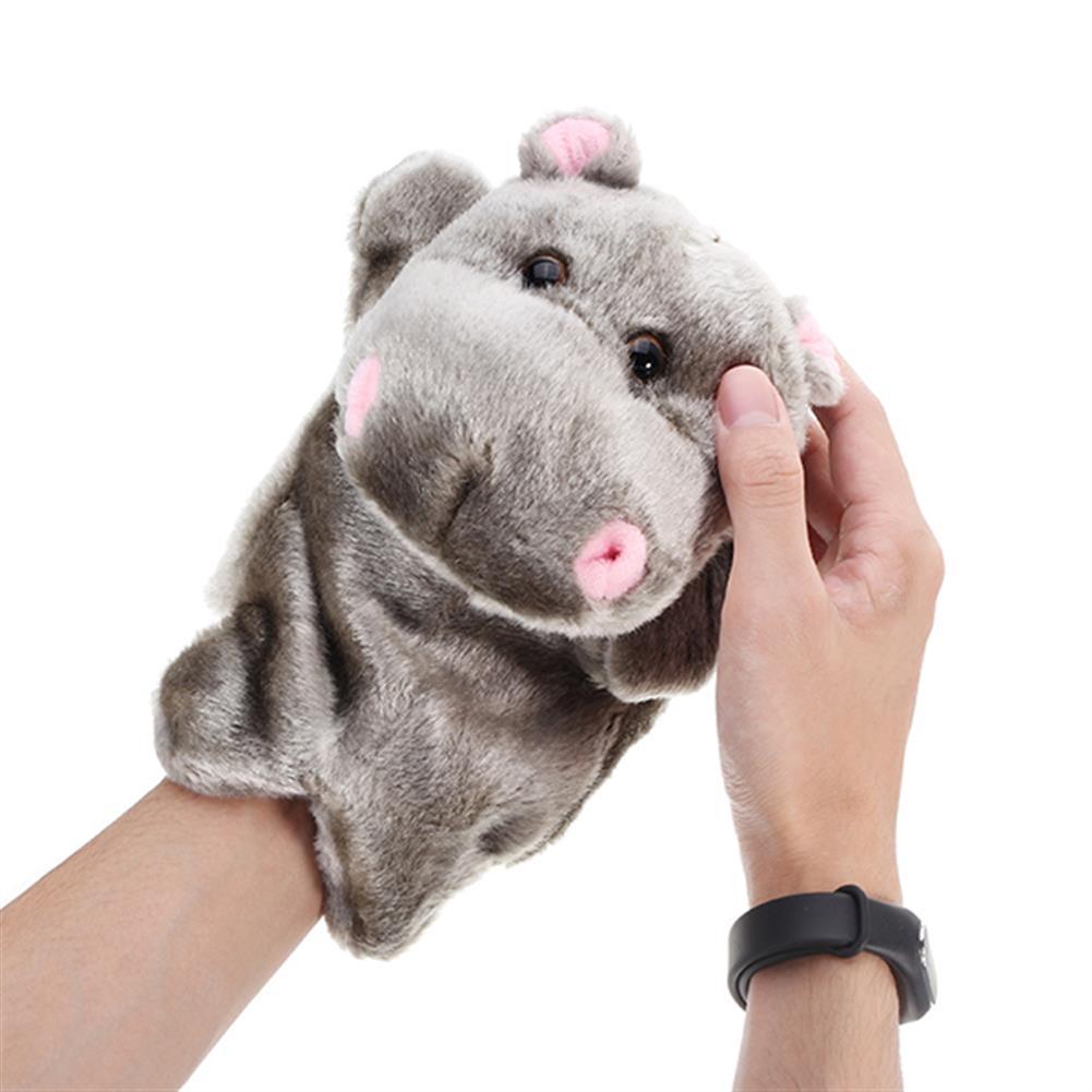 stuffed-plush-toys 27cm Baby Plush Toys Cute Cartoon Hippo Hand Puppet Baby Kids Doll Plush Toy Hand Puppets HOB1220434 1