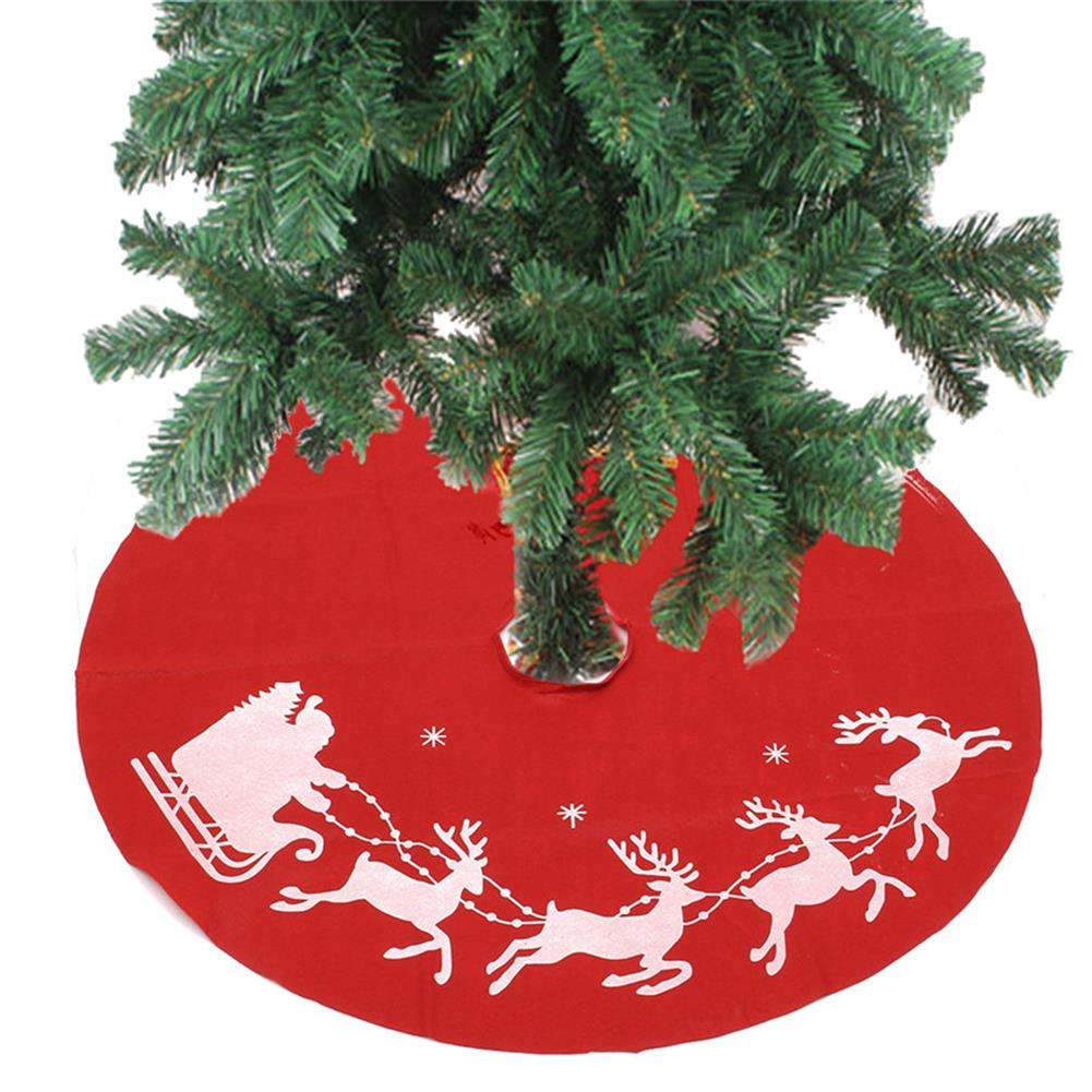 decoration 100cm Red Christmas Tree Skirt Santa Claus Tree Skirt Christmas Decoration Supplies Ornament HOB1221680