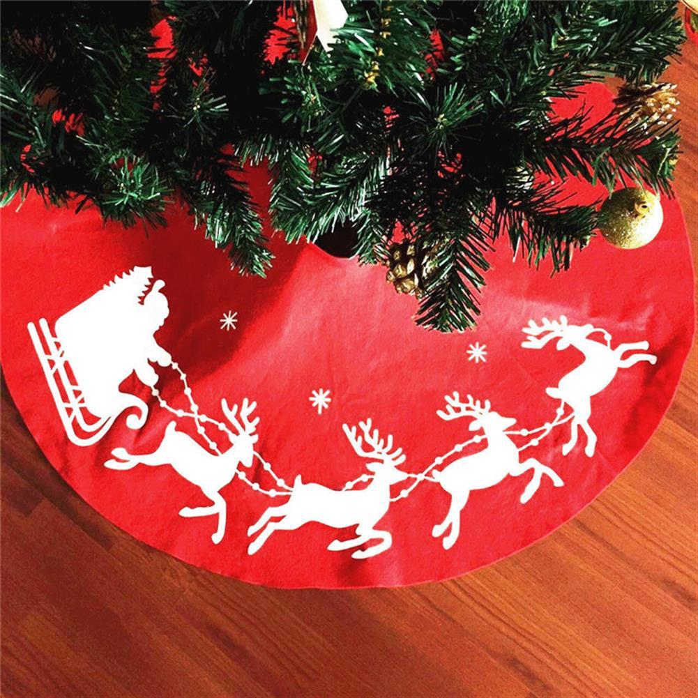 decoration 100cm Red Christmas Tree Skirt Santa Claus Tree Skirt Christmas Decoration Supplies Ornament HOB1221680 1