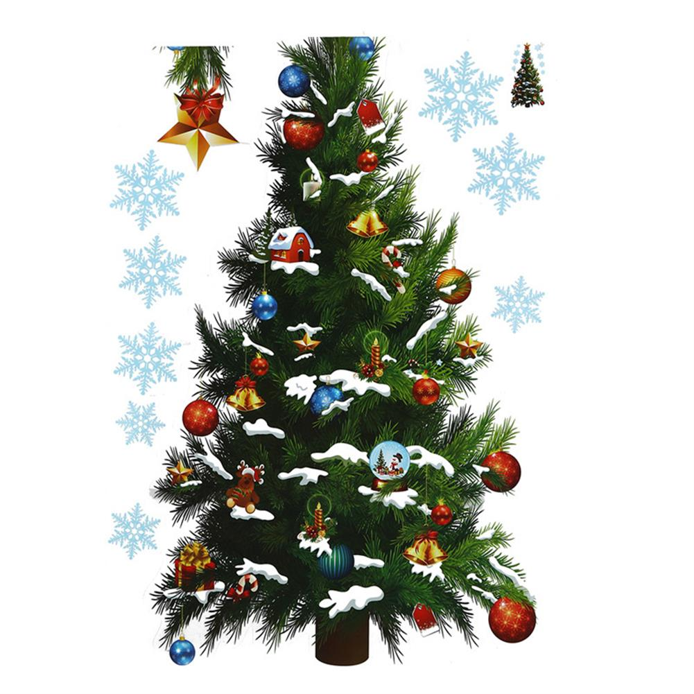 decoration Christmas Party Home Decoration Removable Green Christmas Tree Wall Stickers for Kids Children Toys HOB1223032