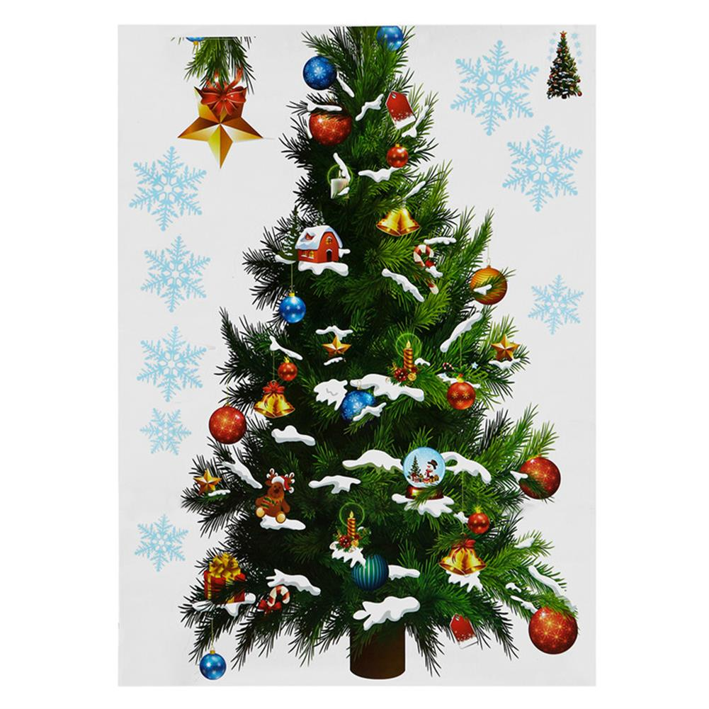 decoration Christmas Party Home Decoration Removable Green Christmas Tree Wall Stickers for Kids Children Toys HOB1223032 2
