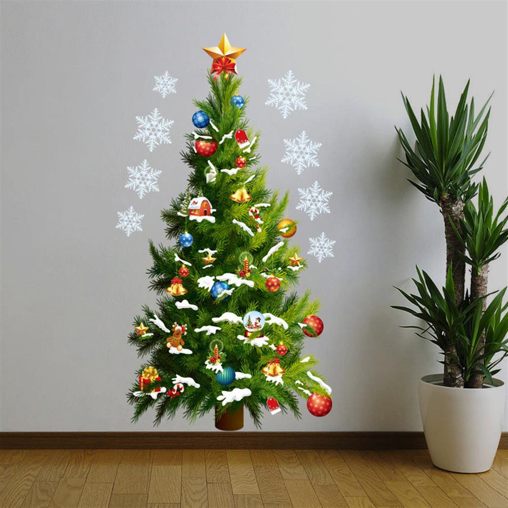 decoration Christmas Party Home Decoration Removable Green Christmas Tree Wall Stickers for Kids Children Toys HOB1223032 3