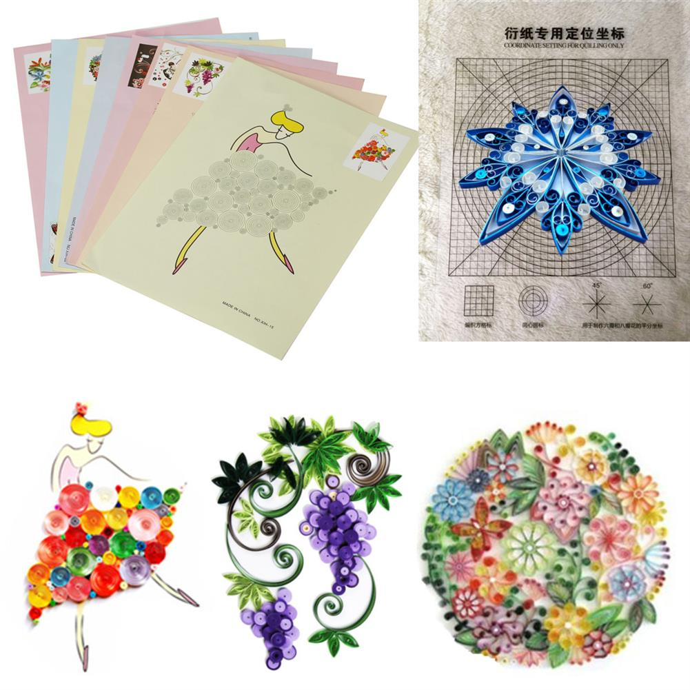 paper-art-drawing 18PCS DIY Release Drawing Locating Paper Quilling Tool Craft Paper Art Collection Set HOB1224653