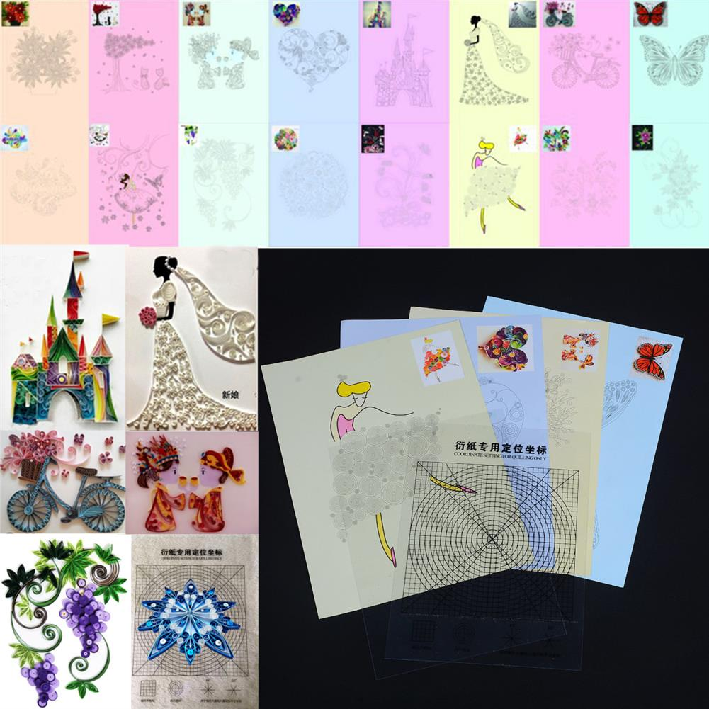 paper-art-drawing 18PCS DIY Release Drawing Locating Paper Quilling Tool Craft Paper Art Collection Set HOB1224653 1