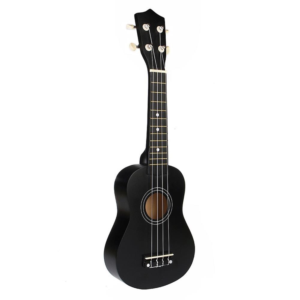 ukulele 21 inch Economic Soprano Ukulele Uke Musical instrument with Gig bag Strings Tuner Black HOB1225063 3