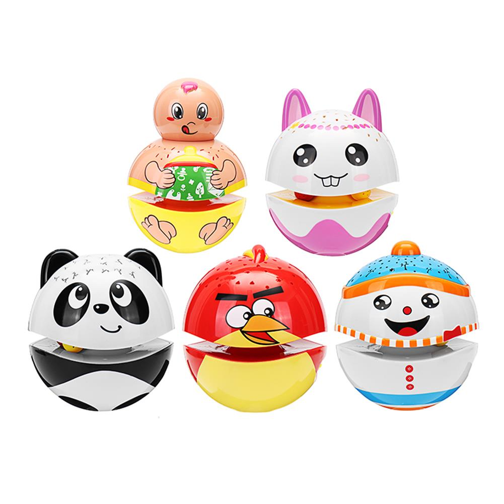 novelties Christmas Cute Luminous Tumbler Doll Projection with Music Baby Toys for Kids Children Gift HOB1225155