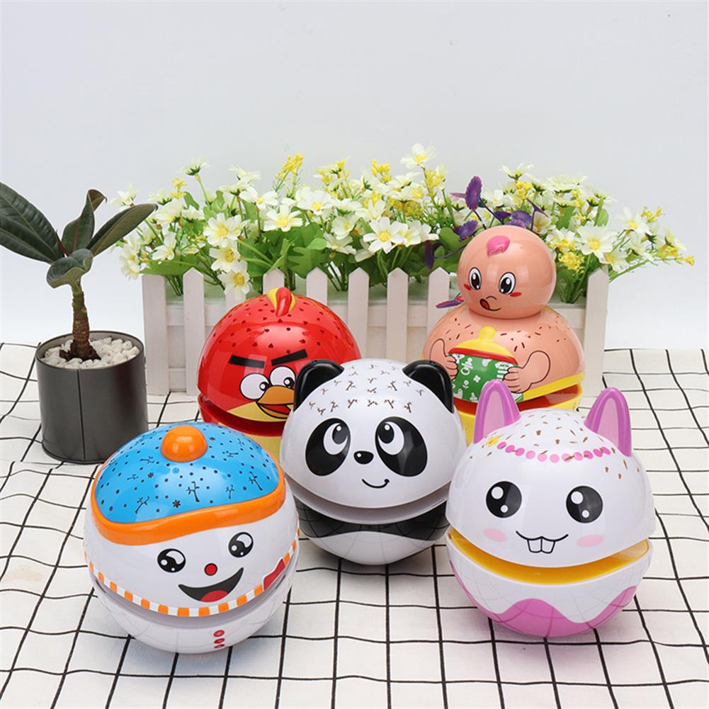 novelties Christmas Cute Luminous Tumbler Doll Projection with Music Baby Toys for Kids Children Gift HOB1225155 1
