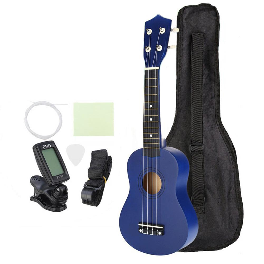 ukulele 21 inch Economic Soprano Ukulele Uke Musical instrument with Gig bag Strings Tuner Blue HOB1225583