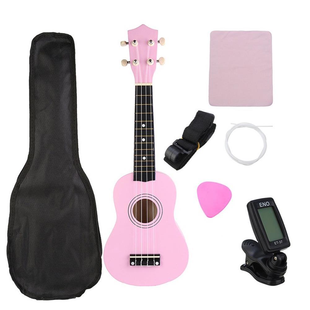 ukulele 21 inch Economic Soprano Ukulele Uke Musical instrument with Gig bag Strings Tuner HOB1228358