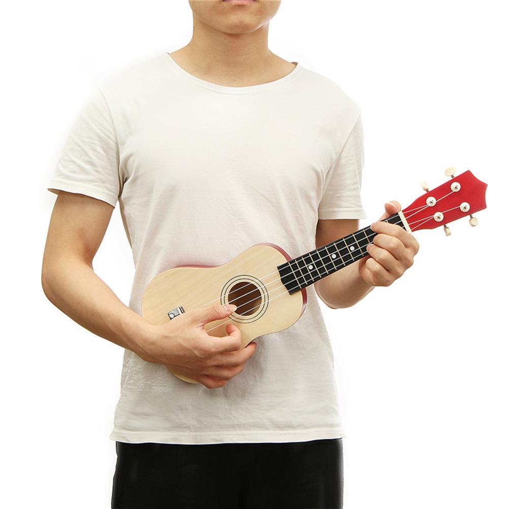 ukulele 21 inch Burlywood Soprano Ukulele Uke Hawaiian Guitar 12 Fret with Tuner Strap Carrying Bag HOB1228362 1