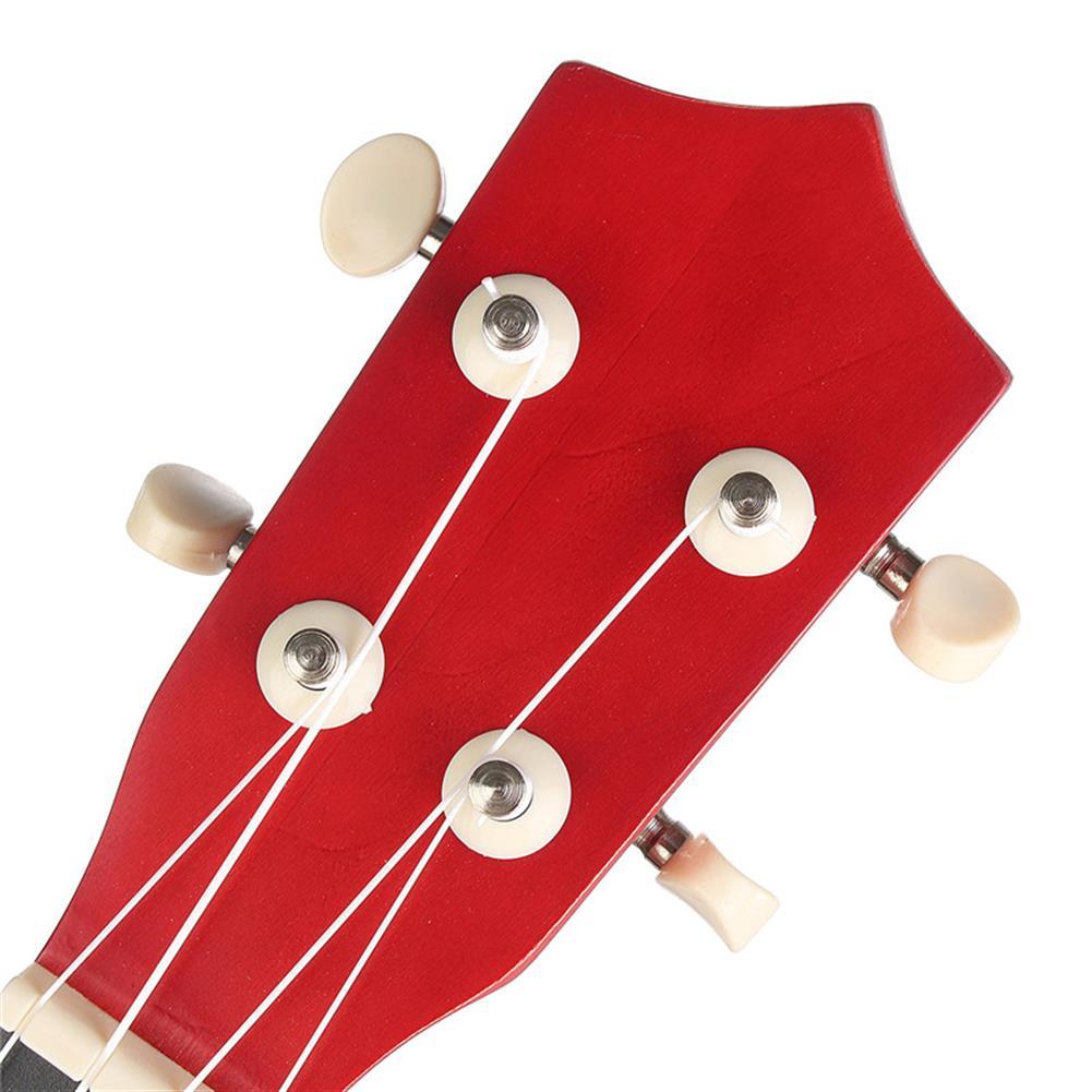 ukulele 21 inch Burlywood Soprano Ukulele Uke Hawaiian Guitar 12 Fret with Tuner Strap Carrying Bag HOB1228362 3